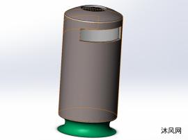 简易垃圾桶模型设计