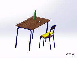 课桌椅设计模型