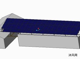 跨走廊屋顶光伏电站