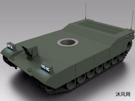 履带式坦克底盘模型