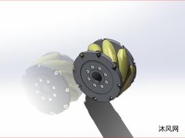 AGV小车用麦克纳姆轮模型