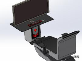一体式游戏机桌面布局