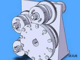 齿轮传动机构模型设计图