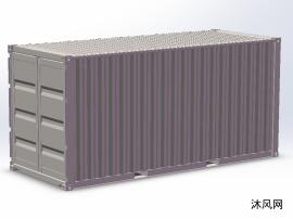 20'號標箱集裝箱模型