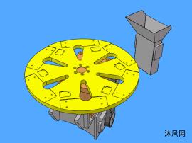 六工位分割器三维图