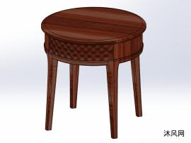 圆形茶几3D模型