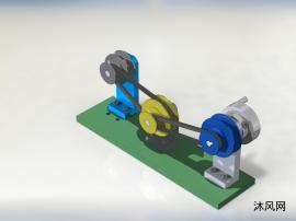 皮带和皮带轮机构模型