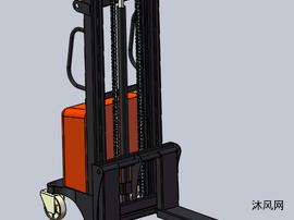 1T2.5米电动叉车模型