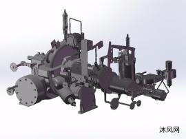 蒸汽压缩机三维模型