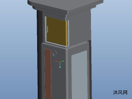 户外钣金控制箱三维模型图纸