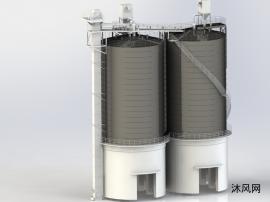 水泥钢板仓仓储系统