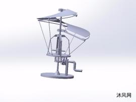 小型型号雷达模型