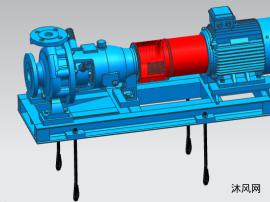 离心泵3D安装图  CZ32-160-100L-2
