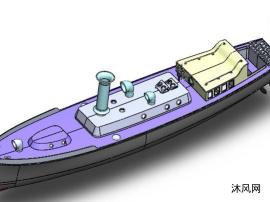 电动小船模型图