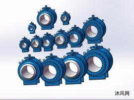 13种型号ANSI300全焊式锻钢球阀