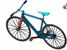 死飞自行车模型