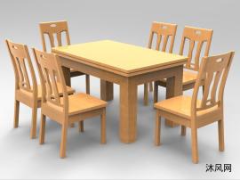 实木餐桌七件套