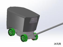 移动式垃圾车模型