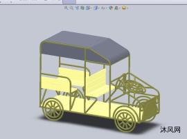 木质展示观光旅游车设计模型