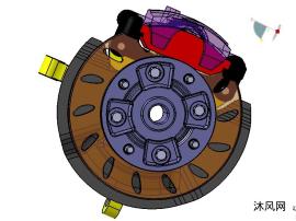 盘式制动器图纸模型