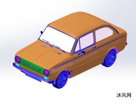 中式汽车图纸模型