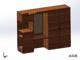 房间衣柜模型图