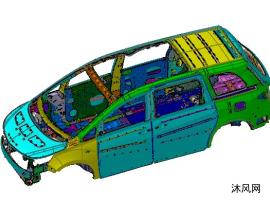MPV车型车身结构天窗版