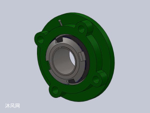 10种GB-T7810-1995带凸台圆形座外球面球轴承模型