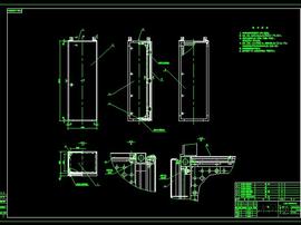 GCK低压抽出式开关柜柜体CAD图集