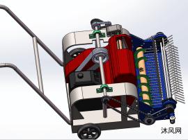 小型牧草收割机模型