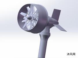 多叶片风力发电机模型