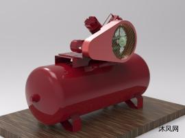 空气压缩机整体3D模型
