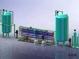 水处理厂模型图