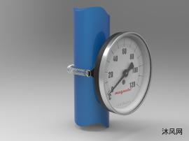 表面温度计63毫米设计模型