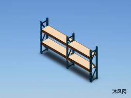 横梁式货架设计模型