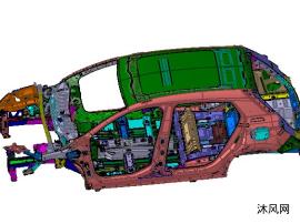 法系高端SUV车身本体结构