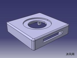 定时器盒盖的塑料模具设计图