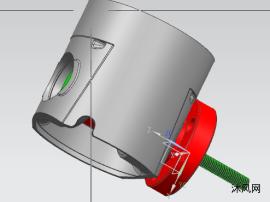 发动机活塞挡圈槽车加工工装