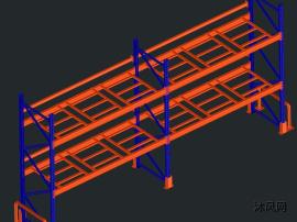 重型横梁货架模型