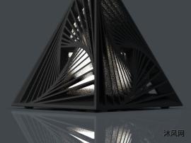 三角创意台灯