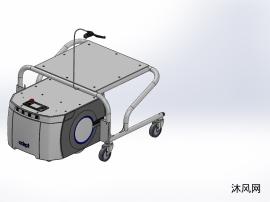 自然导航AGV加自动拖车