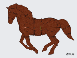 拼装玩具马
