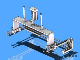 电机同步带滑轨整形机构模型