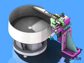 胶圈上料振动盘模型