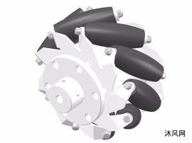 直径100mm麦克纳姆轮带联轴器inventor模型