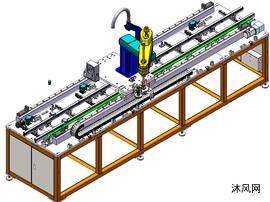 地轨机器人模型