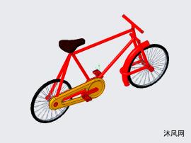 自行车装配图设计