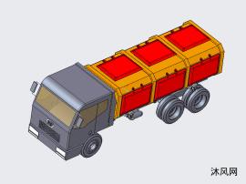 侧翻式垃圾车
