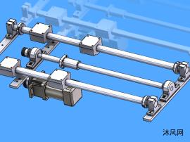 电机同步带平移模型