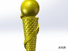 篮球奖杯模型